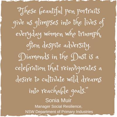 Sonia Muir Diamonds in the Dust testimonial